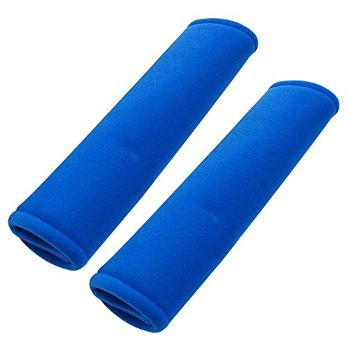 MeiBoAll Car Seat Belts Set Shouder Protection Back Cushion Safety Strap All Car Owners Should Have A More Comfortable Driving Experience 1 Pair Blue