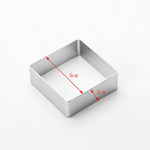 (Laliva 1Pcs/set Specialized Metal Cake Cookie Bakeware Mould Fondant Cookie Cutters Biscuit Mold Kitchen Diy Triangle - (Color: square))