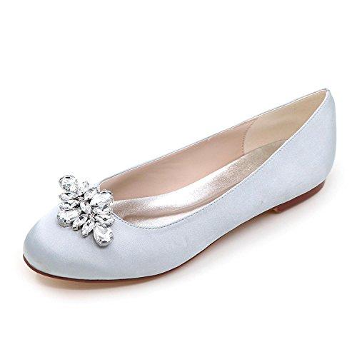 9872 Fiesta Silver Noche Redonda Más L 12 Punta Mujer Pisos Boda Colores yc Zapatos De Para Y Disponibles OwxnTFYPq