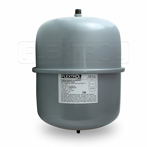 Flextrol FTH30 Hydronic Expansion Tanks-for Hot Water Heaters, Carbon Steel Shell 3/4 Inch MIP Connection, SBR Synthetic Rubber, 60 PSI, 210 Degrees Fahrenheit, Gray Color, 4.8 Gallons