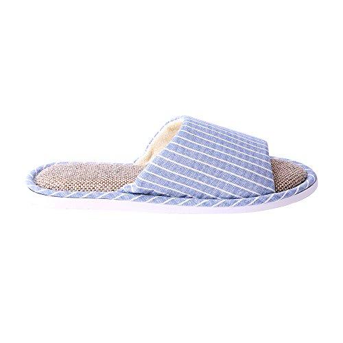 WILLIAM&KATE Zapatillas unisex de moda Zapatillas antideslizantes casual Zapatillas de baño de interior y al aire libre Enrejado Azul