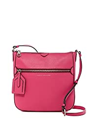 Marc by Marc Jacobs Leather Globetrotter Kit Calley Crossbody , Begonia Pink