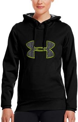 49b9efc9e8 Under Armour Womens Fleece Storm Big Logo Hoody Black/Pinkadelic ...
