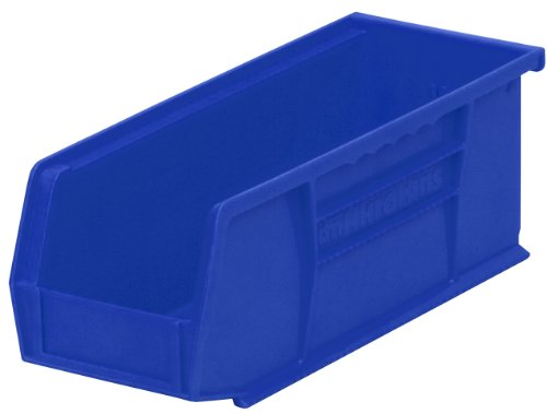 Akro-Mils 30224 Plastic Storage Stacking Hanging Akro Bin, 11-Inch by 4-Inch by 4-Inch, Blue, Case of 12 -