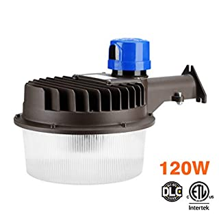 ShineTech LED Area Light 120 Watts - Outdoor Yard Light Dusk to Dawn Photocell Included - 5000K, Area Lights, Barn Light 18,000 Lumens, ETL Listed, DLC, 350W HID Light Equivalent,Replaceable Photocell