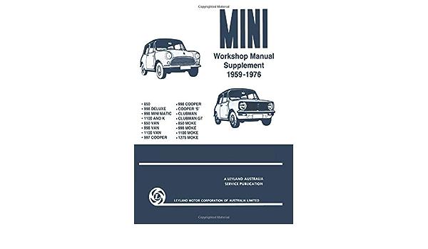 Mini Factory Repair /& Service Manual 1959-1976