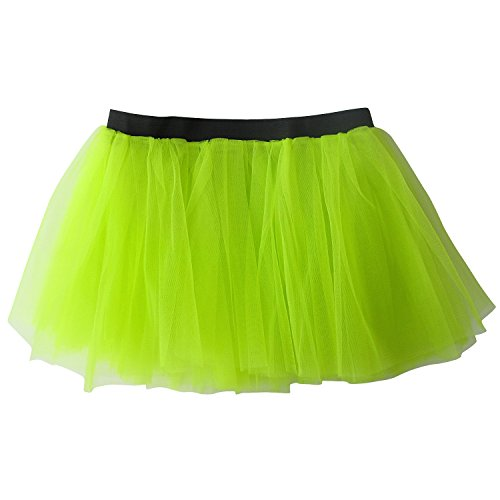 Powerpuff Girls Dress Up Costumes (So Sydney Running Skirt - Teen or Adult Size Princess Costume Ballet or Race Tutu (Neon)
