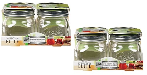 Candle Pint Jar - Collection Elite (16 oz) Pint Jars - Wide Mouth - Set of 8