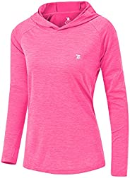YSENTO Women Golf Shirts Long Sleeve UPF 50+ Sun Protection Running Sweatshirts Athletic Hoodies Thumb Hole