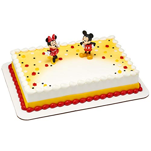 Mickey and Minnie Mouse Cake Topper Decoset Decoration