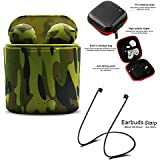 Camo Wireless Bluetooth Earbuds,I7S TWS Stereo Bluetooth Headset Built in Mic with Charging Box Compatible for iOS & Android System (Army Green)