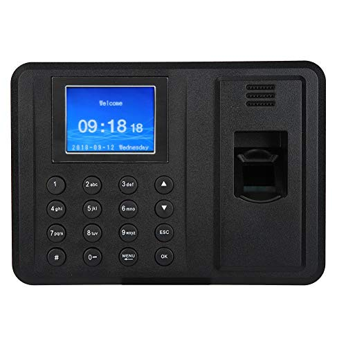 Oumij Biometric Time Attendance System Fingerprint Time Attendance Machine for Employees 2.4″ TFT Screen Fingerprint Recorder Attendance Time Clock Machine Time-Tracking Recorder(US Plug)