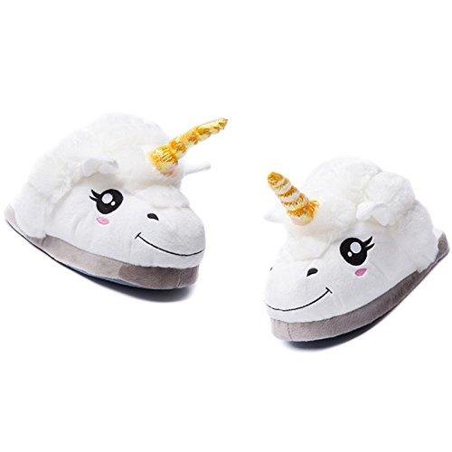 Rainbow Fox 2017 Nuevo dibujos animados estilo blanco unicornio Zapatos Un tamaño unisexo Adultos zapatillas mejor regalos para Adultos (blue) 3kIaa