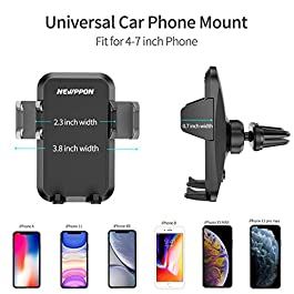 Newppon Car Phone Mount Holder : Air Vent Holders for iPhone 12 11 Pro Mini Xs Max Xr X 8 7 6 Plus Samsung Galaxy Note 9…