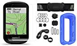 Garmin Edge 830 (2019 Version) Cycle GPS Bundle with Chest Strap HRM, Bluetooth Speed/Cadence Sensors, Silicone Case & Screen Protectors (x2) | Touchscreen, Mapping | Bike Computer (Blue + Sensors)