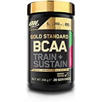 Optimum Nutrition Gold Standard BCAA Branch Chain Amino Acids with Vitamin C, Wellmune & electrolytes. BCAA powder by ON - Strawberry Kiwi, 28 Servings, 266g