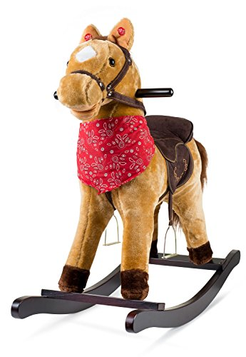 Cowboy Rocking Horse - Tan Brown