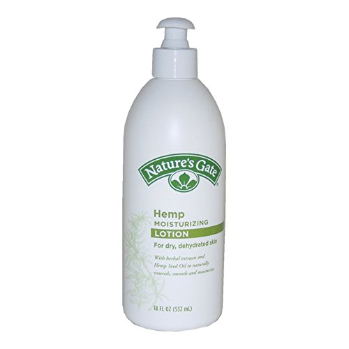 Nature's Gate Hemp Moisturizing Lotion for Dry/Dehydrated Skin, 18 Ounce (Pack of 3)