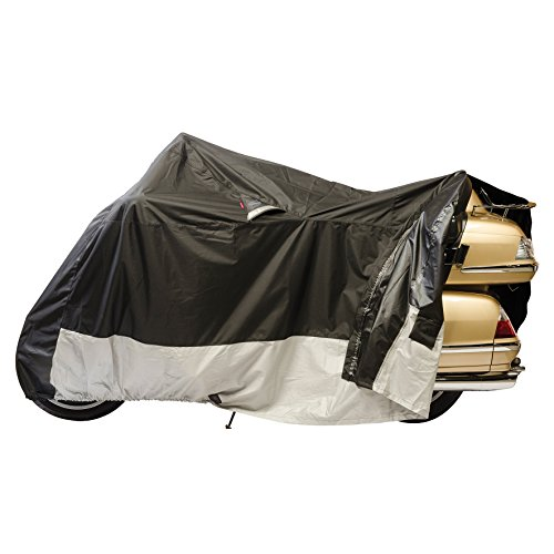 Dowco Guardian 50020-00 WeatherAll Plus Indoor/Outdoor Waterproof Motorcycle Cover, EZ Zip: Black, X-Large