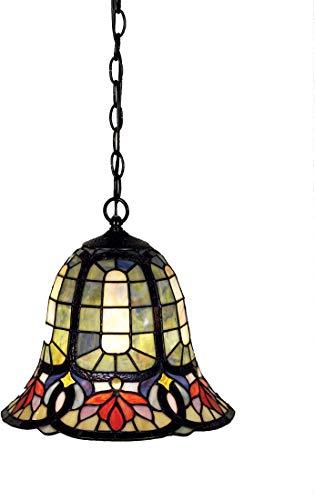 - Quoizel TF1737VB Hyacinth Tiffany Mini Pendant Lighting, 1-Light, 150 Watts, Vintage Bronze (12