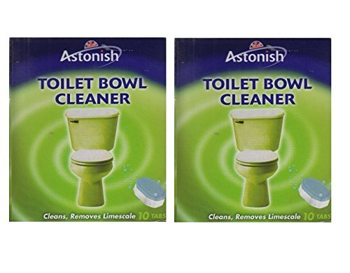 2 x Astonish Toilet Bowl Cleaner Tabs Limescale Remover 10 x 25g Tablets