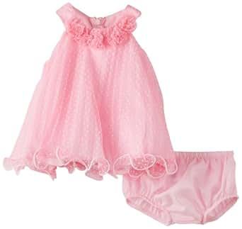 Amazon Com Bonnie Baby Girls Newborn Pink Crystal Pleat