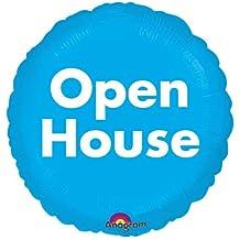 """Blue Open House 18"""" Mylar Balloon"""