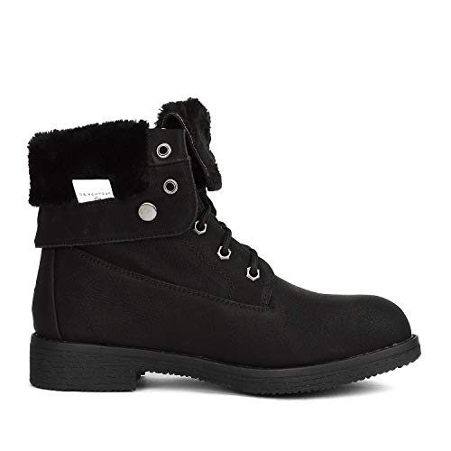 DREAM PAIRS Women's Montreal Mid Calf Winter Snow Ankle Boots