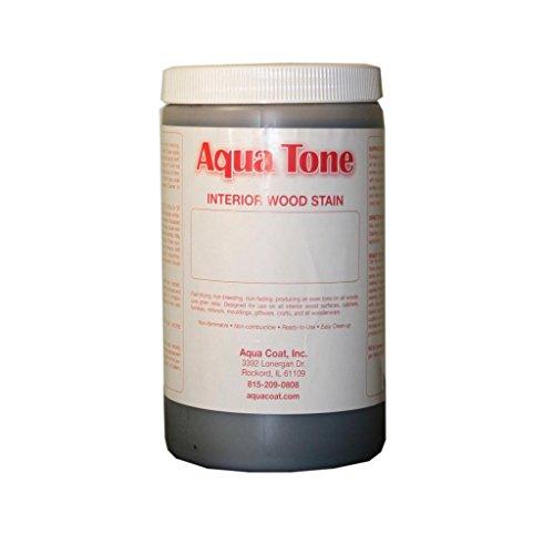 Aqua Tone Water-Based Wood Stain, English Oak, Quart