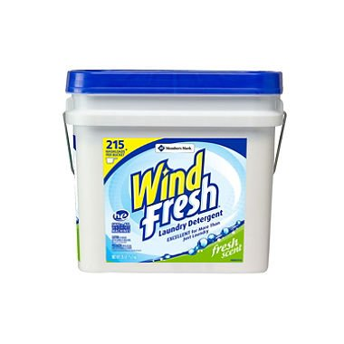 WindFresh Laundry Detergent Bucket - 200 Loads - 32.5 lbs. (Pack of 6) by WindFresh