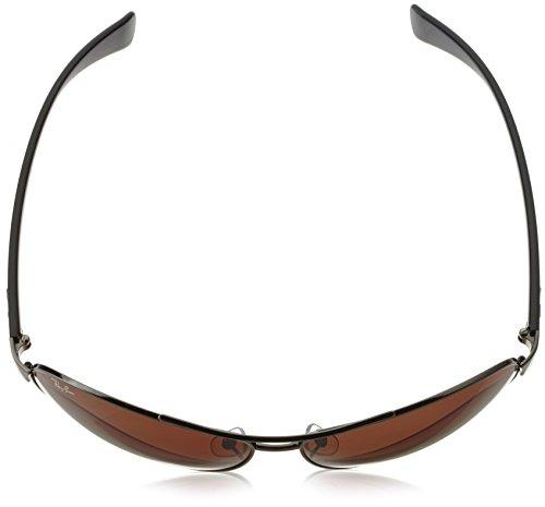 Ray gunmetal 004 marron AVIATOR Ban dégradé wrap soleil 13 Gris 67 en de RB3386 lunettes Gunmetal PzfgPq1