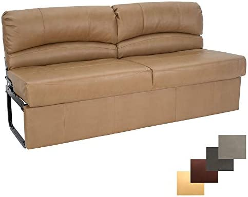 RecPro Charles RV Jackknife Sofa Love Seat Sleeper Sofa Length Options 62 , 68 , 72 11 Legs and Hardware Included 72 Inch, Toffee