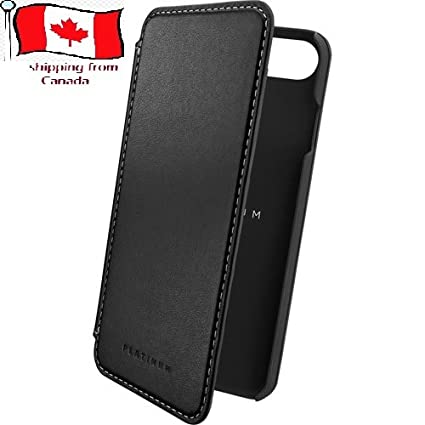 online retailer 504bd ac790 IPhone 7 case, Platinum series iphone 7 Leather Wallet Case - Black