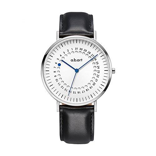 Christmas Gift a.b.art FD41-101-1L Men's Analog-Digital Blue Pointer Fashion Silver Watch (Lido (Oily Cowhide)-Black) by a.b.art (Image #8)