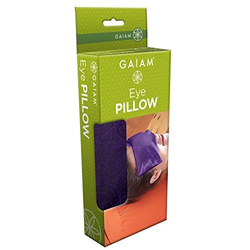 Gaiam Yoga Eye Pillow, Purple Batik