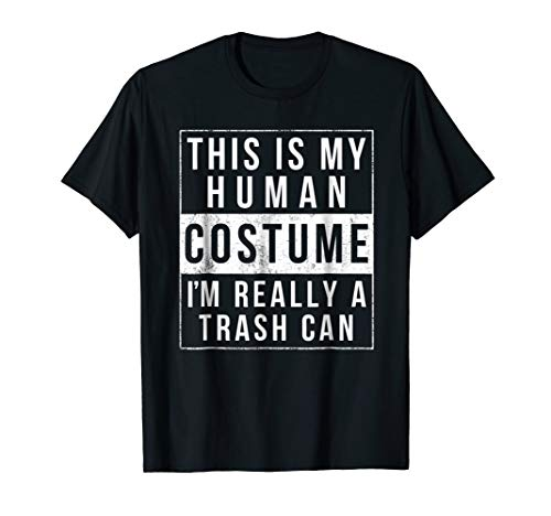 Trash Can Halloween Costume Shirt Funny Easy for kids adults