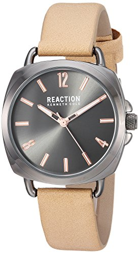 Kenneth Cole REACTION Women's Quartz Metal Casual Watch, Color:Beige (Model: RK50100005)
