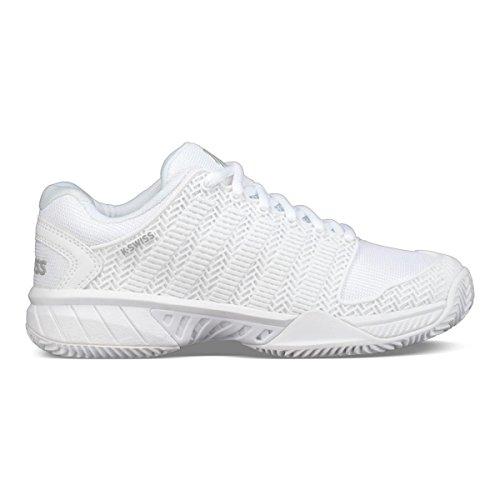K-Swiss Women's Hypercourt Express Tennis Shoe (White/Highrise, 6.5 M US)