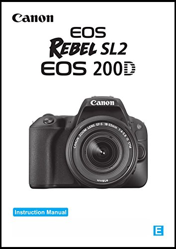 Canon Rebel SL2 Digital Camera User's Instruction Manual Book