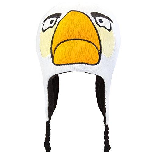 Angry Birds - White Bird Big Face Peruvian Knit Hat ()