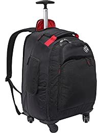 Luggage Mvs Spinner Backpack, Black, 19 Inch