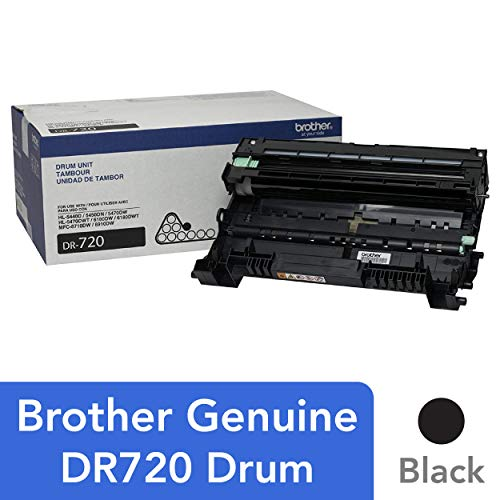 Brother Genuine Drum Unit, DR720, Seamless Integration, Yields Up to 30,000 Pages, -