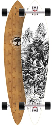 "Arbor Fish Bamboo 38"" 2015 Complete Pintail Longboard Skateboard New On Sale"