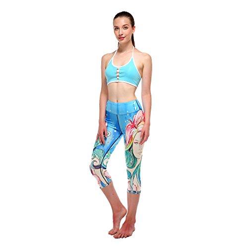 Hohe Anzeigen Amerikanische Mode Europ Stretching Strumpfhosen H ische rke Und Digitaldruck Yoga Hosen Taille Frauen St 0PN8ZwkXnO