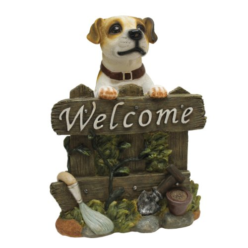 Design Toscano Jack Russell Terrier Dog Welcome Statue (Dog Statue Welcome)