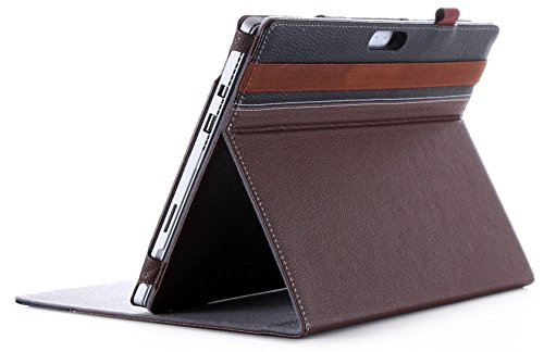 6/Surface Pro Case 2017/Surface Pro 4 Case - Premium Folio Cover Case for Microsoft Surface Pro 6 / Surface Pro 2017/Pro 4, Compatible with Type Cover Keyboard -Brown ()