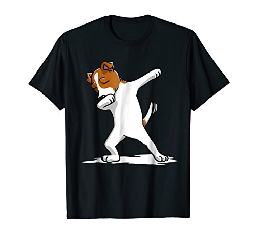 Dabbing Jack Russell Terrier T-Shirt Funny Dog Dab Dance