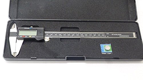 SKEMiDEX--- 8'' Electronic Caliper Precision Stainless Inch Metric LCD Dial NEW 4-way measurements: Outside, Inside, Depth & Step Stainless steel hardened frame, complete with fitted plastic case
