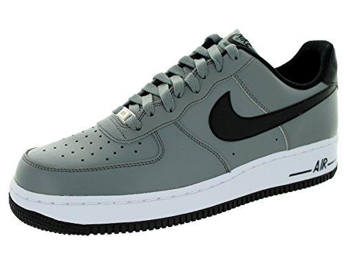 Nike Menns Air Force 1 07 Qs Basketball Sko Kjøle Grå / Svart / Hvit