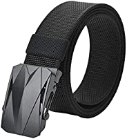 "Mens Nylon Belt Regular & Big and Tall 30-70"" Waist Military Tactical Webbing Automatic Buckle C"